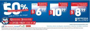 Impresa TALLERES hasta con 50 OFF en el mes de mayo 2015