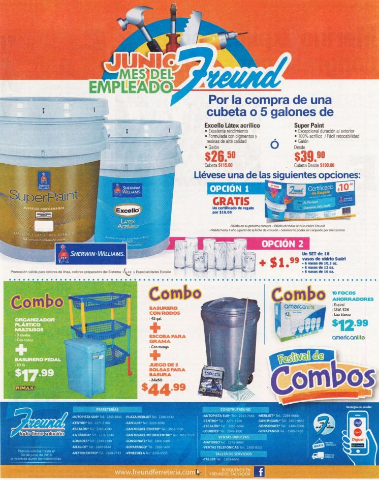 Junio mes del empleado FREUND combro y regalos - 29may15