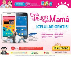 MAMA obtiene celular GRATIS por tus compras en LA CURACAO - 06may15