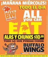 OJO miercoles 06may15 all you can eat en alitas bufalo