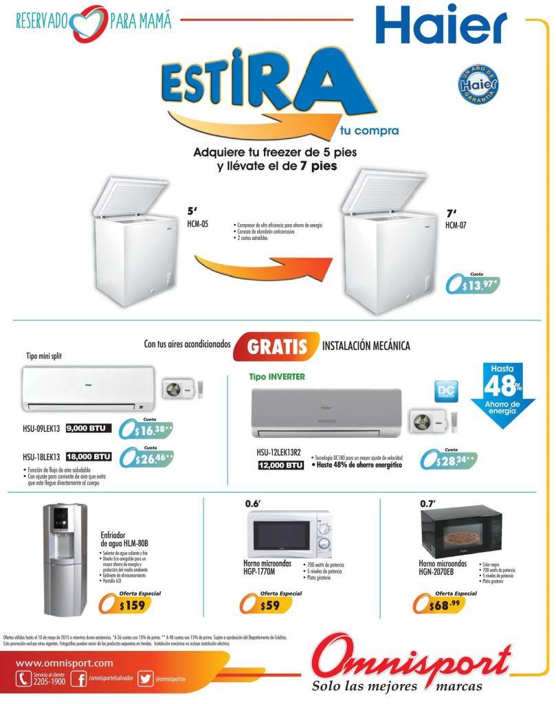 OMNISPORT promocion estira tu compra HAIER electronic - 05may15