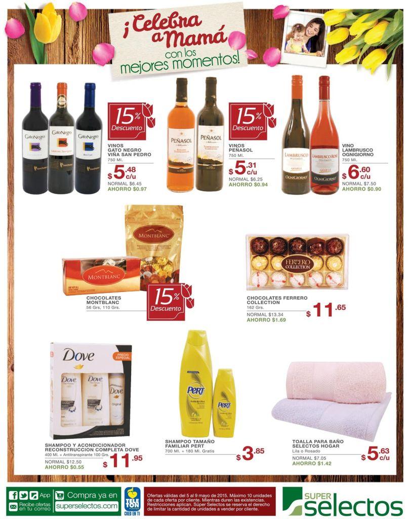 Ofertas en vinos y chocolates para celebrara el dia de las madres