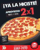 PIZZA HUT promocion 2x1 en pizzas martes y jueves - 12may15