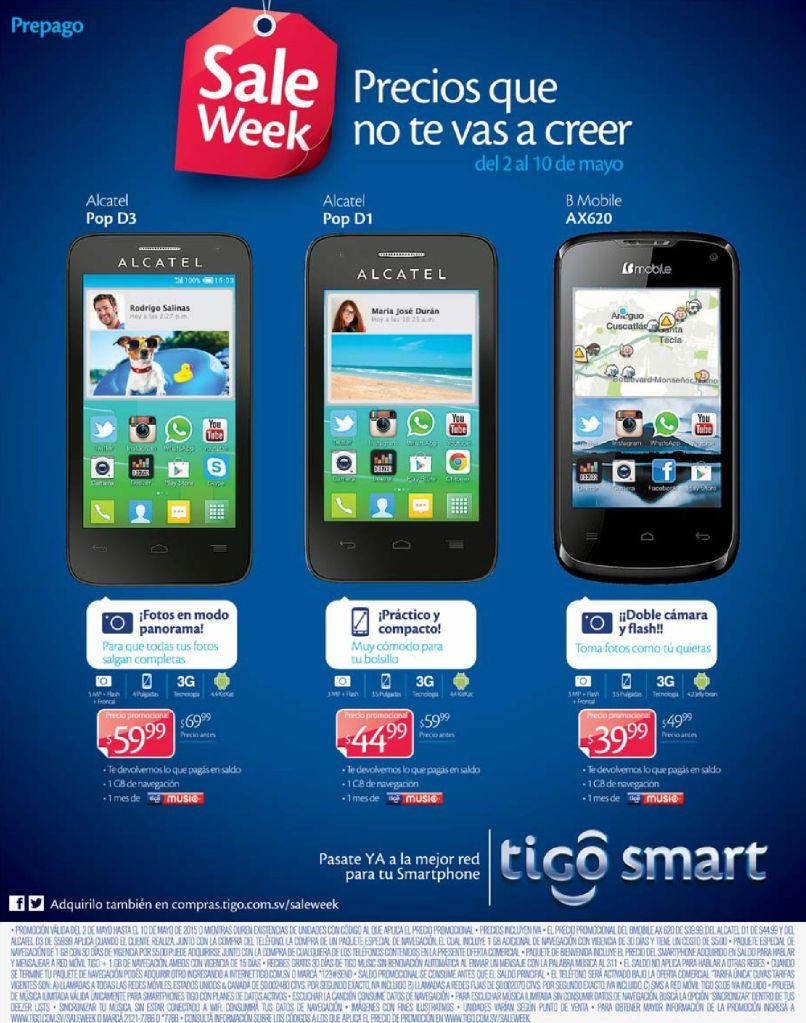 Precios super bajos en celulares SALE WEEK TIGO - 02may15