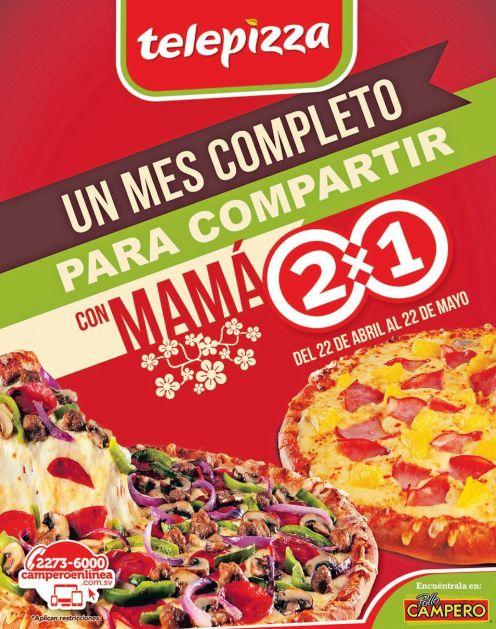 Promociones MES DE MAYO telepizza elsalvador