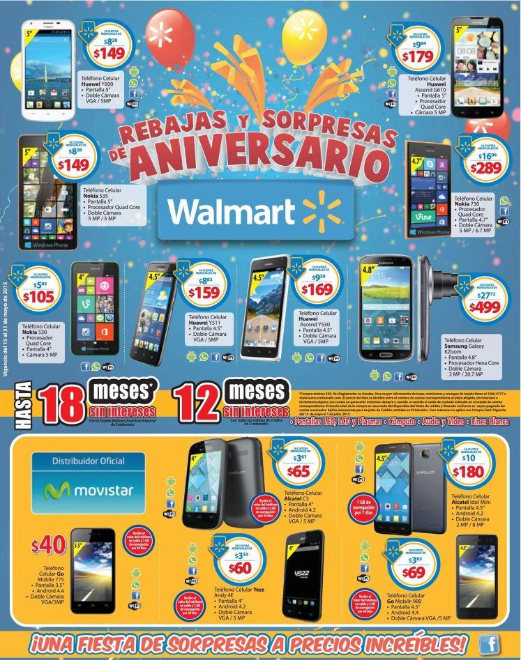 Promociones de aniversario en WALMART tecnologia - 15may15