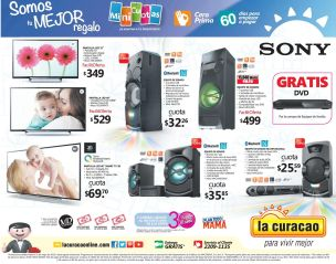 SONY power audio system stereo LA CURACAO promos
