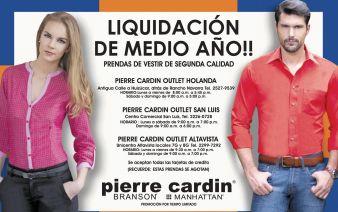 Se acerca la liquidacion de medio anio en PIERRE CARDIN