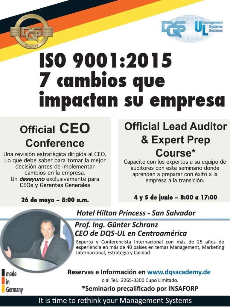Seminario ISO 9001 2015 7 cambios que impactan tu empresa