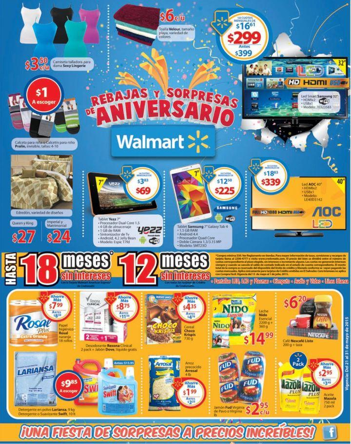 Sigue la felicidad con las ofertas de aniversario WALMART - 21may15