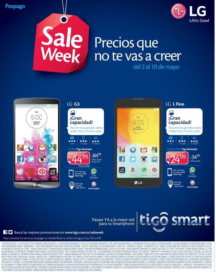 Smartphone alto rendmiento LG series precios bajos en TIGO - 05may15