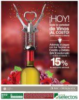 Solo hoy VARIEDAD de vinos al costo super selectos - 09may15