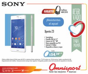 Sony XPERIA Z3 smartphone alta capacidad rendiemiento y resistente al agua