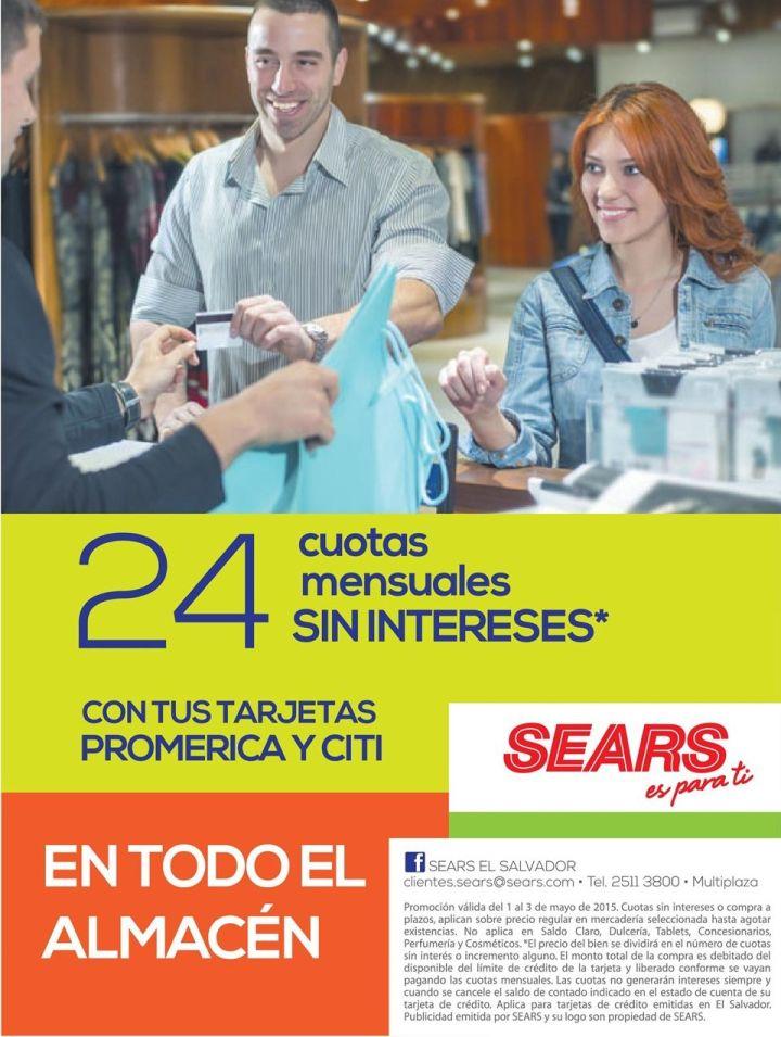 Tarjetas de credito CITI y PROMERICA promociones SEARS elsalvador - 02may15