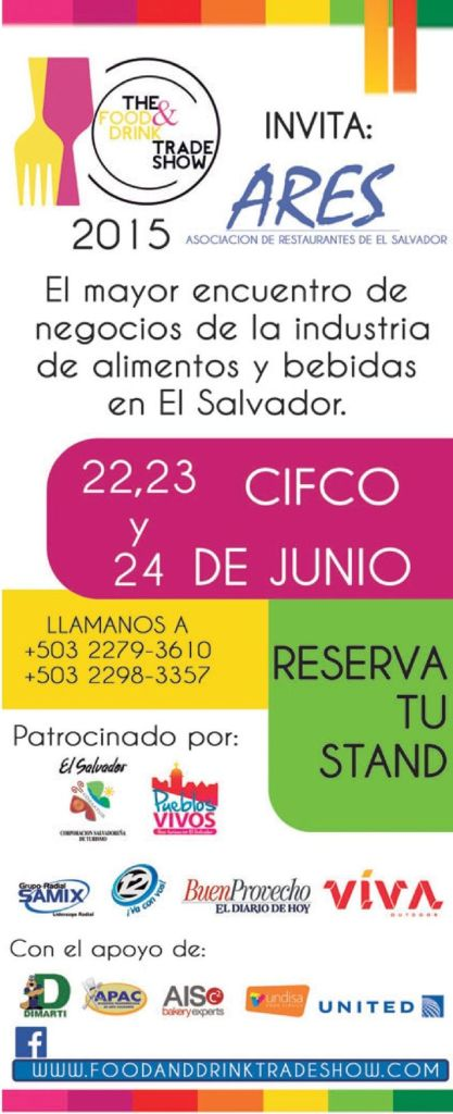 The food and drink TRADE SHOW elsalvador 2015