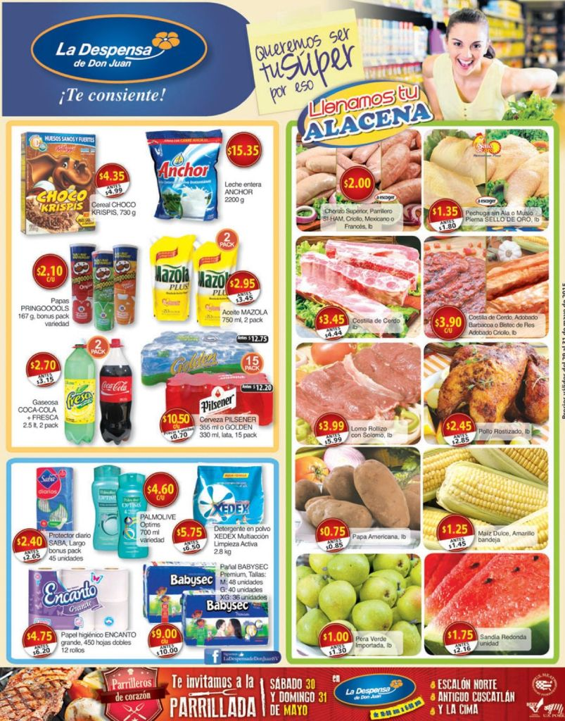 Tu alacena Tu despensa de Don JUan con ofertas de finde - 29may15