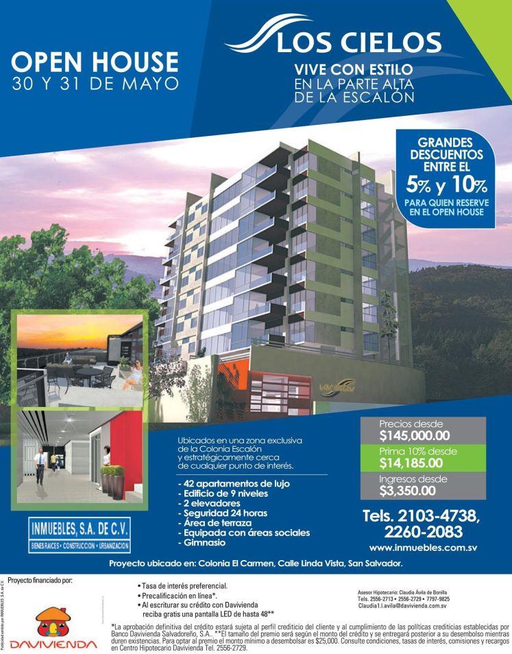 Vive con estilo y lujo en SAN SALVADOR zona escalon apartamentos LOS CIELOS