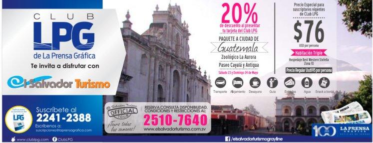 descuentos en Paquetes turisticos GUATEMALA El Salvador