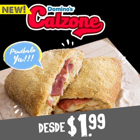 new DOMINOS CALZONE pizza especiality