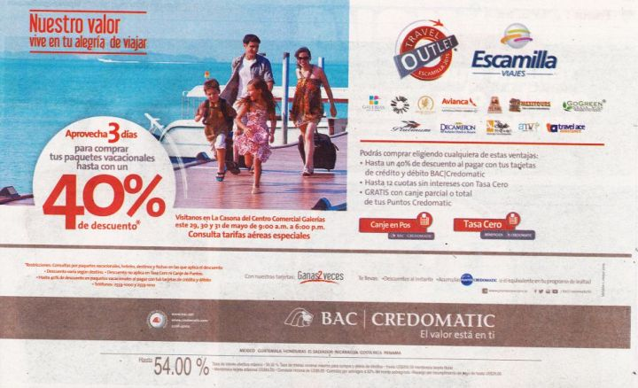 promotions TRAVEL outlet 40 OFF para viajar