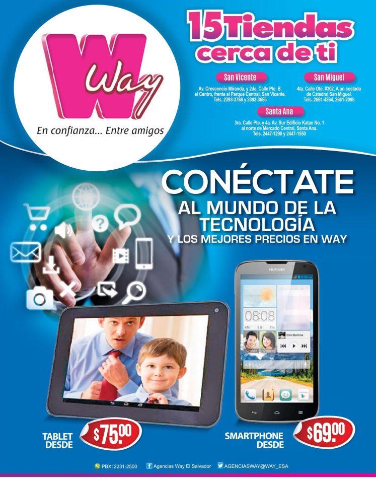 Agencias WAY te conecta con estas ofertas TABLET y SMARTPHONE