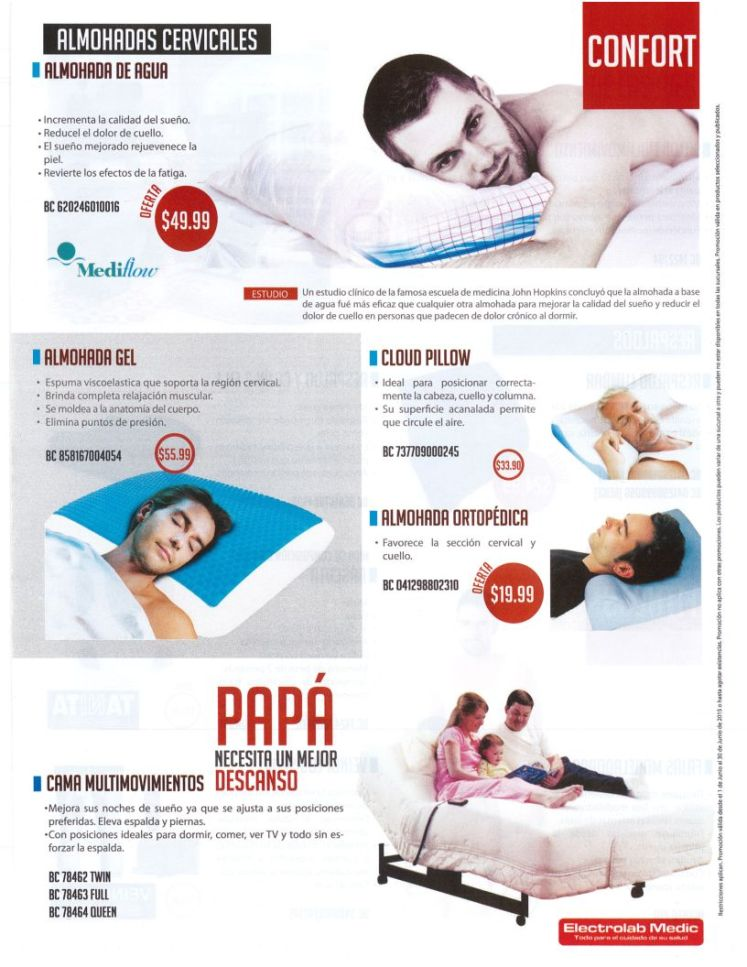 Almohadas terapeuticas CLOUD Pillow GEL cervicales ortopedica