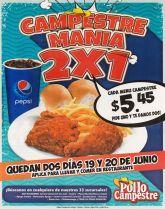 Campestre MANI promocion 2x1 Delicioso pollo empanizado