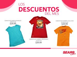 Descuentos SEARS camisetas para hombre y muejres - 10jun15