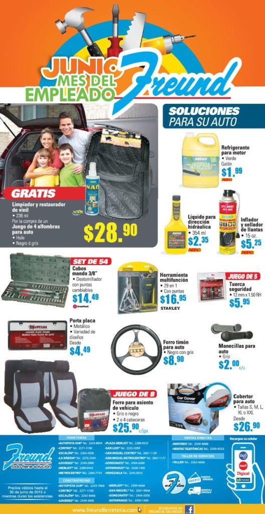 FREUND Promociones y ofertas en accesorios para autos - 15jun15