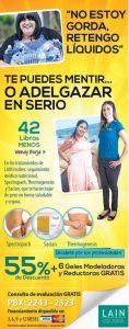 GEL moldeadores y reductores LAIN tratamiento bajar de peso