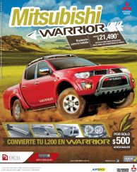 Pickup TODO TERRENO mitsubishi warrioe 2015
