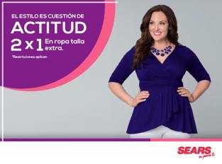 Promociones SEARS 2x1 en ropa femenina talla extra