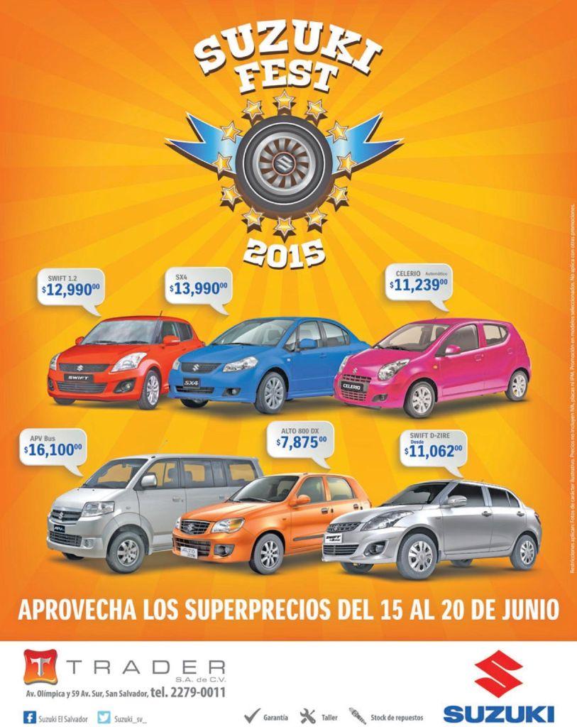 SUZUKI fest 2015 supre precios en autos