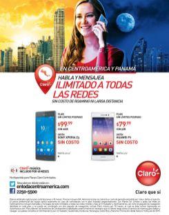 Sin limites para hablar mensajear y navegar con CLARO centroamerica