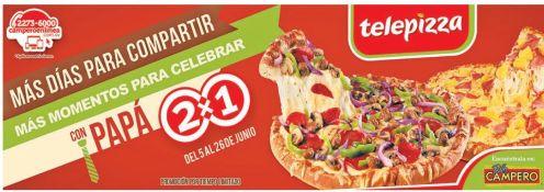 Telepizza promocion 2x1 para compartir con PAPA