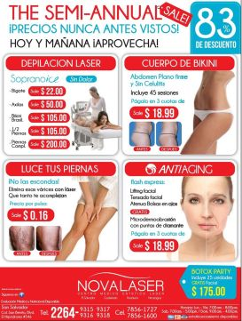 The semi annual SALE for beauty treatments