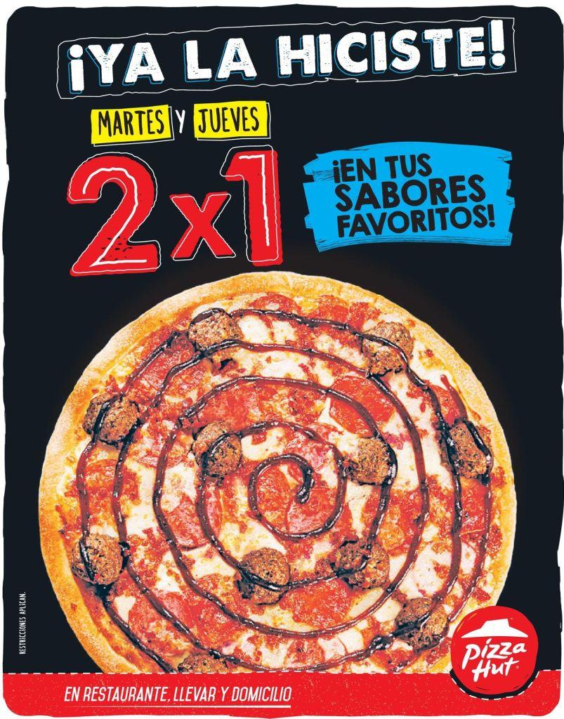 Tus sabores preferidos en PIZZA HUT 2x1 martes y jueves