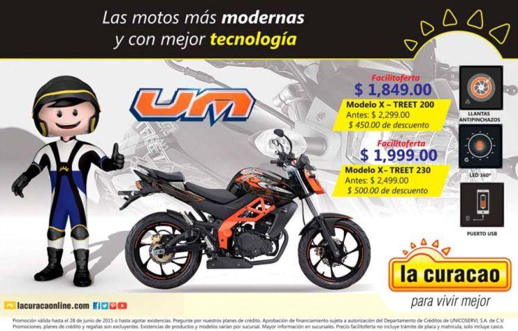 UM motorcycle X TREET model ofertas LA CURACAO
