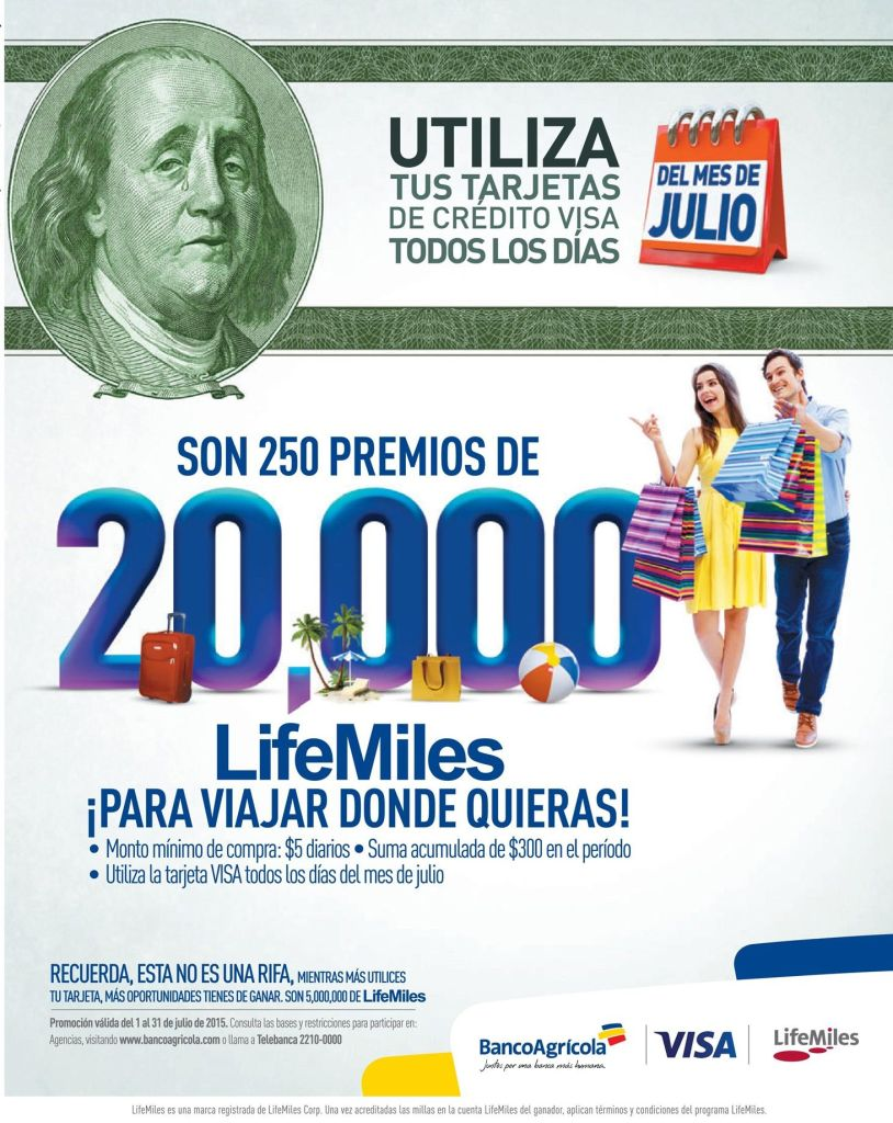 VISA credit card and LIFE MILES promotion