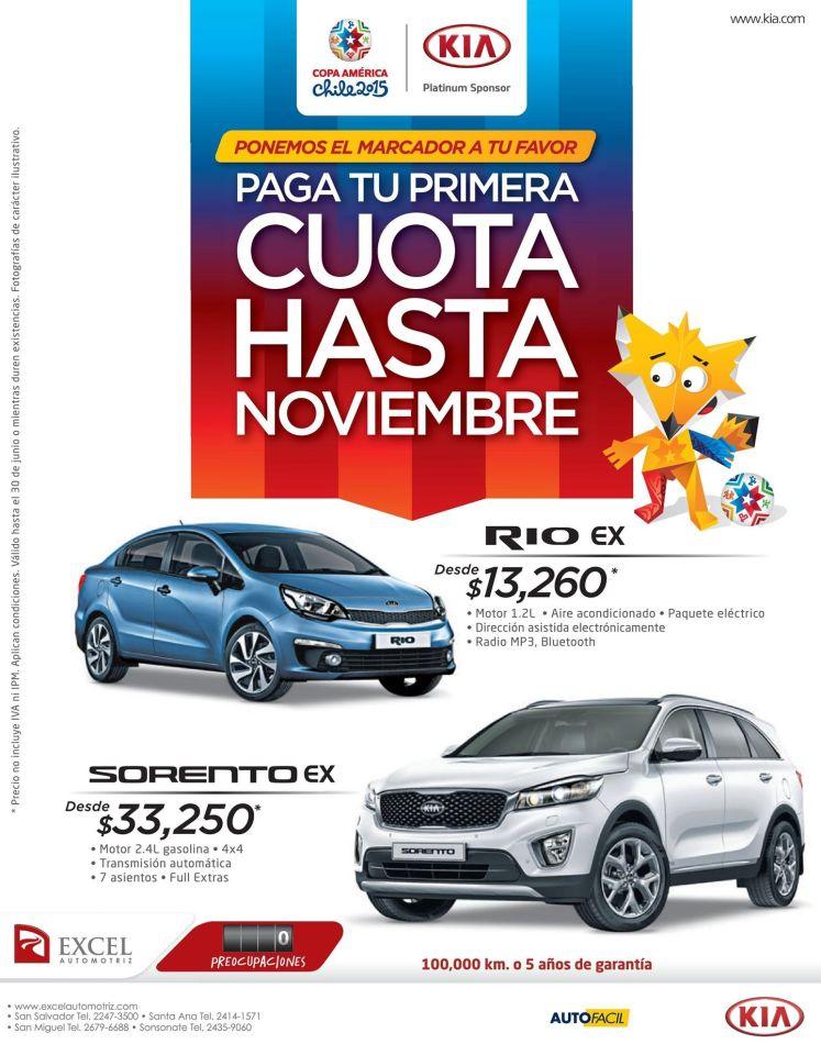 compra tu nuevo auto KIA platimun sponsor Copa America CHILE 2015