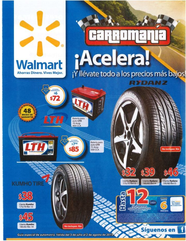 ACELERA con tu racing car WALMART low prices on tires