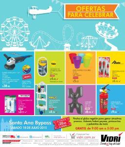 Almacenes y Ferreteria VIDRI ofertas para celebrar JULIO-2015