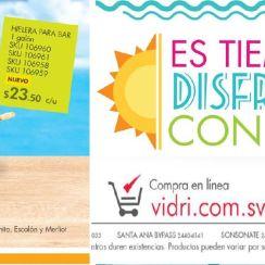 Articulos para ir de vacaciones a la playa VIDRI