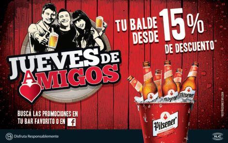 Balde de cerveza pilsener 15OFF para todos los amigois