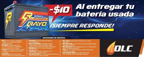 Baterias para carros RAYO bono por tu bateria vieja