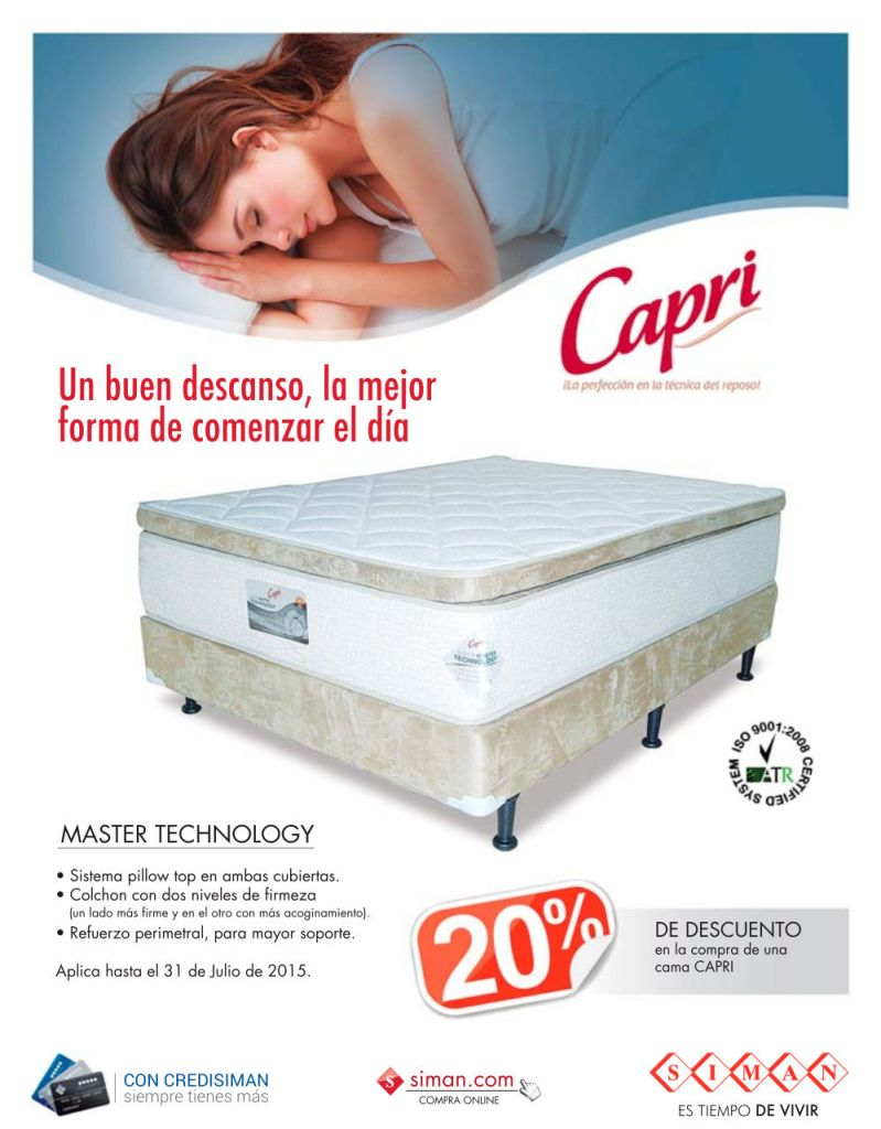 CAPRI master rest technology PILLOW system
