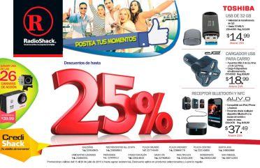 Descuentos hasta del 25 por ciento en RADIOSHACK - 15jul15