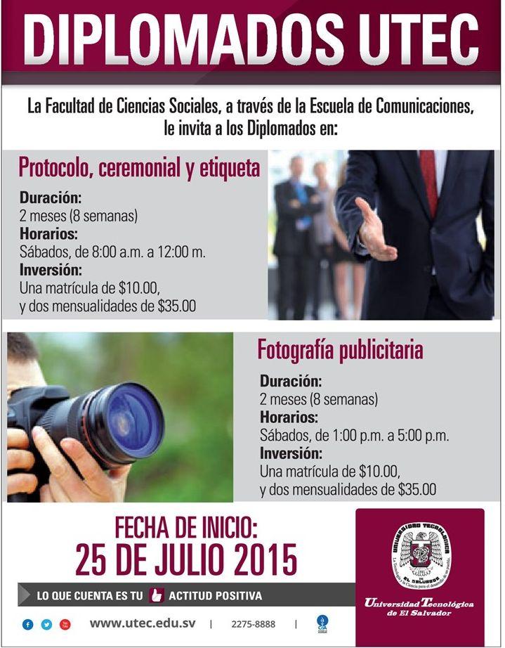 Diplomados tecnicos en la UTEC FOTOGRAFIA publicitaria y protocolo eiqueta