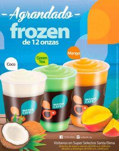 FROZEN sabores tropicales promociones media cafe santa elena