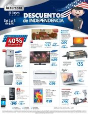 Independence day DISCOUNTS via LA CURACAO el paseo